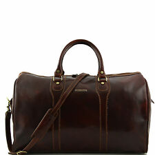 TUSCANY LEATHER travel bag with shoulder strap detachable made italy