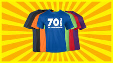 70th Birthday T Shirt Happy Birthday T-Shirt Funny 70 Years Old Tee 7 COLORS