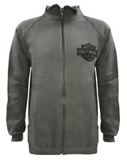 Harley-Davidson Men's Bar & Shield Track Jacket, Charcooal Zip H-D 30296617