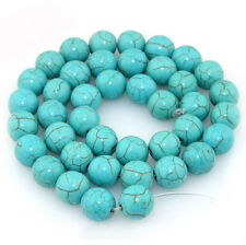 Wholesale Natural Turquoise Gemstone Spacer Loose Beads Charm Finding 4/6/8/10mm