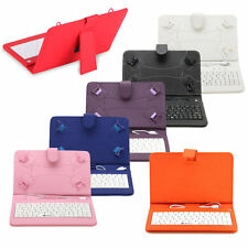 """7"""" Luxury Universal PU Micro USB Keyboard Case Stand Cover for 7'' Tablet PC"""