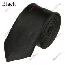 30 Solid Colors Mens Neck Tie 2.0'' Skinny Neckwear 59'' Classic Neckcloth Tie