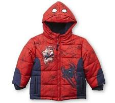 Toddler Boys Marvel SPIDERMAN Puffer Jacket Winter Coat Size 2T 3T Spider man