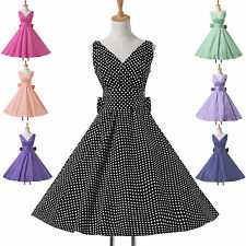 CHEAP~Housewife ROCKABILLY 50s 60s Vintage Swing Party Tea Prom Dress Bridesmaid