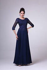 Modest Elegant Mother of the Bride Dress Lace and Jewels on Mesh Scoop Neckline