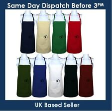 New Poly-Cotton Plain Apron front pocket Cooking Crafts Kitchen Chefs Workwear