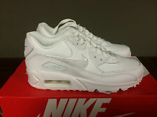 Air Max 90 Leather Grade School Lifestyle Shoe (White) 724821 100