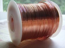 Copper Wire Round Dead Soft 99.9% 12 to 26 Gauge Coiled Wire