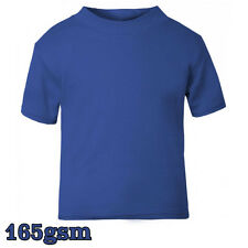 New T-Shirt Age Size Top Kids Baby and Toddler Plain in Royal Blue Boys Girls