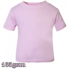 New T-Shirt Age Size Top Kids Baby and Toddler Plain in Baby Pink for Boys Girls