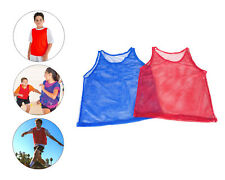 YOUTH Practice Team Jerseys Pinnies Mesh Scrimmage Training Vest Sports Red Blue