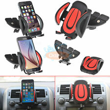 Car CD Dash Slot Mount Holder Dock For Phone Samsung Galaxy S7 Edge S6 Note 5