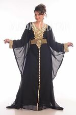 DUBAI FANCY WEDDING GOWN JILBAB JALABYA LOVELY CAFTAN ABAYA MODERN DRESS 4829