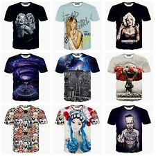Fashion 3D Printed T-shirt Men Women Tee Round Top Hiphop Space Galaxy Clothing
