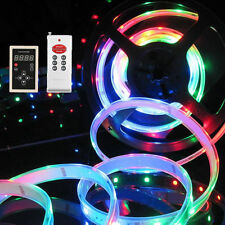5M 10M RGB 133 Dream color 5050 6803 IC Waterproof LED Strip 12V + RF Remote