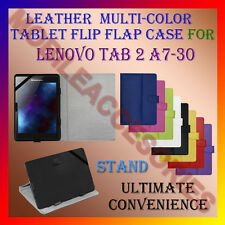 """LEATHER FLIP MULTI-COLOR 7"""" COVER CASE STAND for LENOVO TAB 2 A7-30 TABLET TAB"""