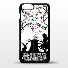 Cover for Iphone 6 / 6 Plus Alice in wonderland mad hatter quote art phone case