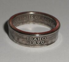 Idaho  US STATE QUARTER handcrafted coin ring or pendant size 4-14