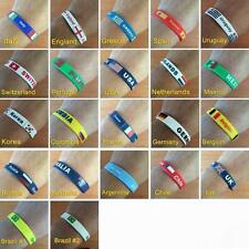 NEW Pack of 2 Country Flag Rubber Wristbands Color Bracelet Soccer Football