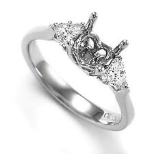 950 Platinum Diamond Semi-Mount Ring Setting  R1252 Free Shipping Worldwide.