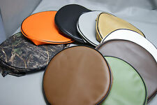 """Bar Stool Covers padded round quilted foam SLIP ON in 25 colors  2"""" SIDES (Q/W)"""