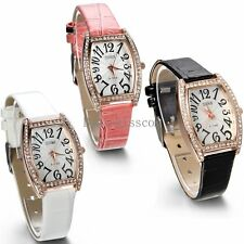 Leather Band Quartz Analog Casual Ladies Girls Wrist Watch Wristwatch Fashion