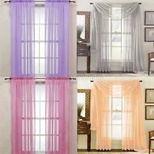 Nice Door Window Polyester Curtain Drape Panel Sheer Voile Assorted Scarf New