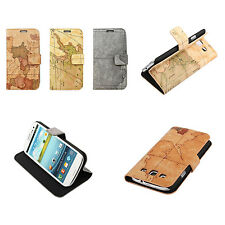Antique World Map Leather Skin Case Cover Protector For Samsung Galaxy S3 SIII
