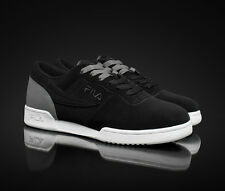 NEW AUTHENTIC MEN'S FILA ORIGINAL FITNES 1VF80049-013 BLACK AND GRAY