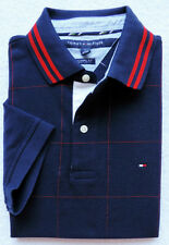 New Tommy Hilfiger Mens Short Sleeve Plaid Polo Size M