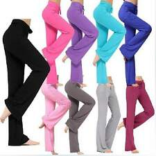 Womens Sport Yoga Running Pants High Waist Trousers Leggings Fitness Gym Clothes