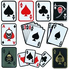 Playing Poker Cards Poker Casino Games Motorcycle Biker Rider Iron on Patch #1