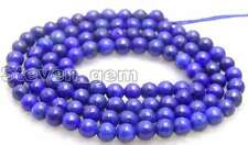 "Small 6mm Round Blue natural lapis lazuli loose beads strand 15""-los628"