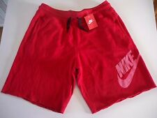620634-687 New with tag Nike Men's AW77 ALUMNI  RED fleece shorts
