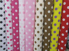 """BIG POLKA DOT POLY COTTON FABRIC 58"""" WIDE BY THE YARD HOME DECOR"""