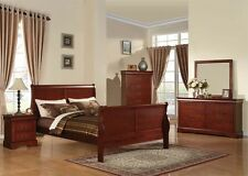 Louis Philippe Cherry 4 Pc Bedroom Set Queen King Full Twin Bed Home Furniture