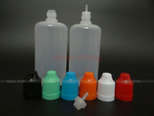20pcs 100ML Plastic Dropper Squeezable Bottle juice Liquid Child Proof Safe LDPE