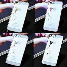 Luxury Chrome Bumper Clear Hard Case Slim Cover Magic Angel For iPhone 5 5S 4 4S
