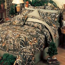 Realtree Max 4 Camo Comforter Set- Bed in a Bag Camouflage Bedding*FREE VALANCE
