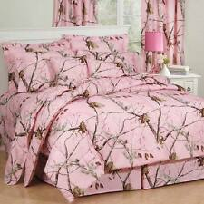 Girls Realtree AP Pink Camo Comforter Set & Sheets~Bed in Bag~Twin Full Queen