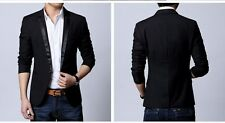 Mens slim fit blazer suit coat jacket + Slim Tie FREE..