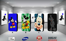 Mickey Mouse Disney Cartoon Iphone 4 4s 5 5s 5c 6 6plus Funda Protectora Flip Cuero