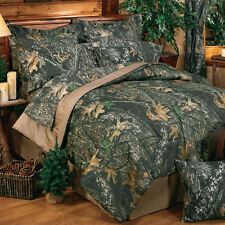 Mossy Oak Break Up Comforter Set with sheets Camouflage Bedding FREE VALANCE
