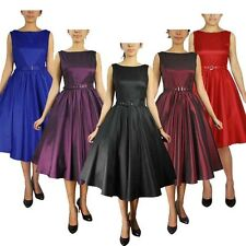 Rockabilly Pinup Vintage Retro Swing Prom 50's Dance retro Dress Plus Sizes 8-28