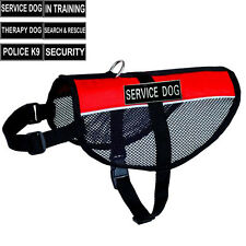 New Service Dog Vest Mesh with Removable Velcro Patches Reflective Dog harness