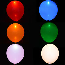 LED Balloons Helium Quality Balloon Single Colour Party Birthday Weddings Glow