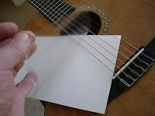 Blank Sheets UltraThin Clear PickGuard Removable Guitar Bass Ukulele Mandolin