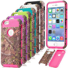 Rugged Realtree Pattern Printed Matte Camo Combo Case Cover For iPhone 6 6S Plus