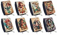 Disney Princess Tattoo Tinkerbell Belle Snow White For Cute Canvas Wallet Purse