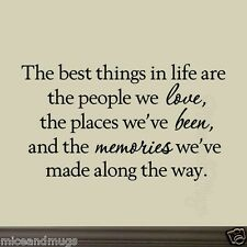 People We Love Family Wall Decals The Best Things in Life Quotes Vinyl Wall Art